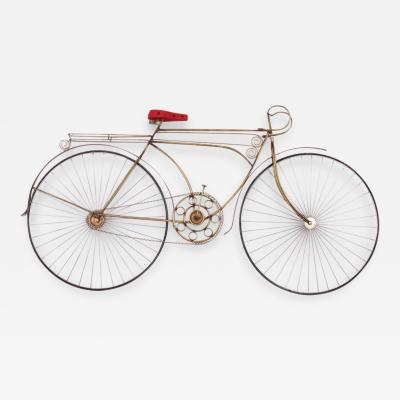 Curtis Jer Curtis Jere Ten Speed Racing Bicycle Metal and Wood Mounted Wall Sculpture 1986