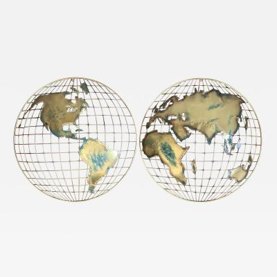 Curtis Jer Globe Wall Hangings Signed