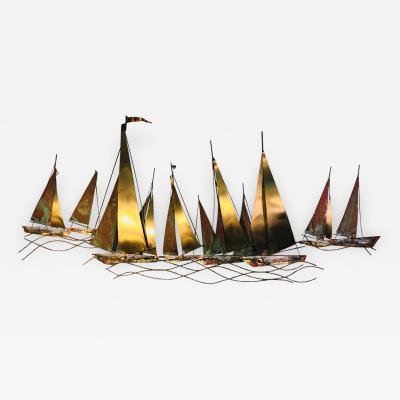 Curtis Jer Large Scale Boat Wall Sculpture by Curtis Jere