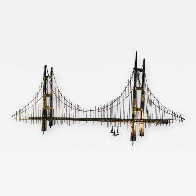 Curtis Jer Large Scale Bridge Wall Sculpture by Curtis Jere