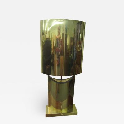 Curtis Jer Lovely Large Scale Sculptural Signed Curtis Jere Brass Lamp Mid Century Modern