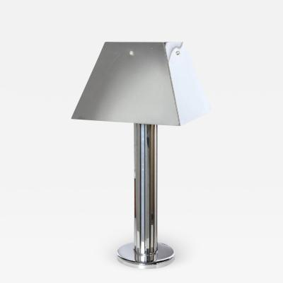 Curtis Jer Monumental Curtis Jere Reflective Chrome Table Lamp with Chrome Shade C 1970