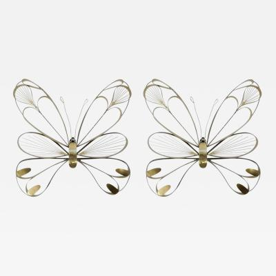 Curtis Jer Pair of Butterfly Sculptures by Curtis Jere