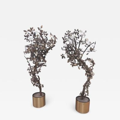 Curtis Jer Pair of Curtis Jere Tree Sculptures