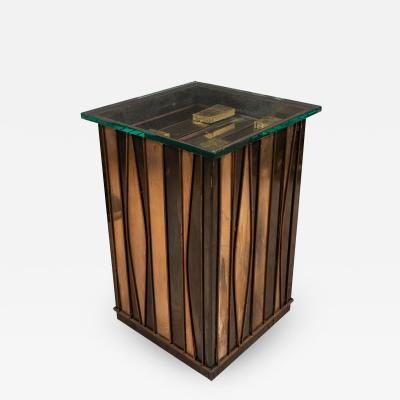 Curtis Jer SCULPTURAL MIXED METAL SIDE TABLE