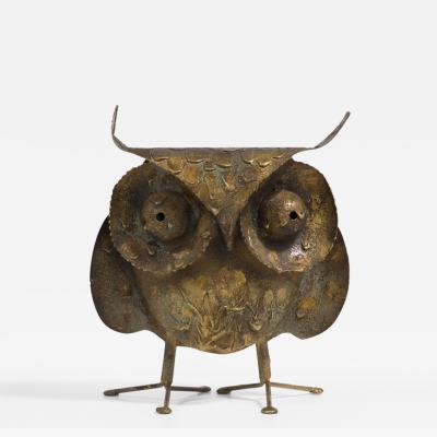 Curtis Jere A Brutalist Owl by C Jere Signed 1968