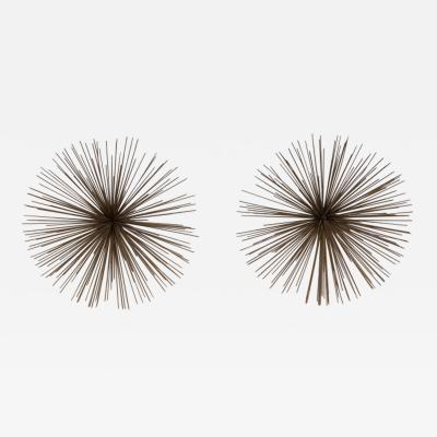 Curtis Jere A Pair of Small Pom Pom Wall Sculptures by Curtis Jere