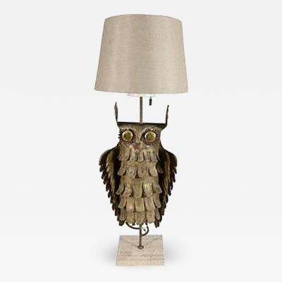 Curtis Jere Abstract Brutalist Owl Table Lamp by Curtis Jere