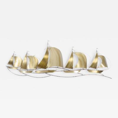 Curtis Jere Brass Sailboat Regatta by C Jere