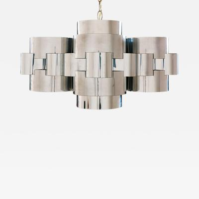 Curtis Jere Curtis Jere Cloud Chrome Chandelier for Artisan House
