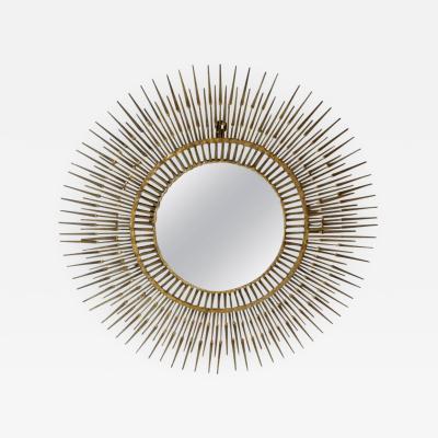 Curtis Jere Curtis Jere Gilded Steel Sunburst Nail Mirror