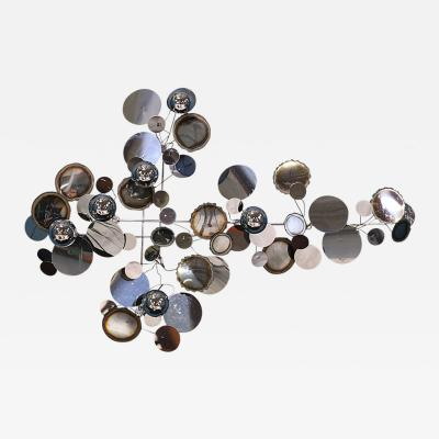 Curtis Jere Curtis Jere Raindrop Chrome Wall Sculpture for Artisan House