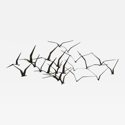 Curtis Jere Elegant and Iconic Curtis Jere Birds in Flight Wall Sculpture