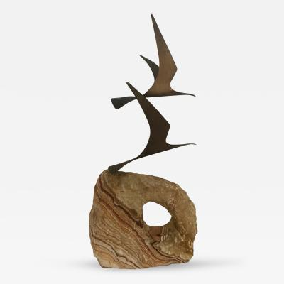 Curtis Jere Large Birds in Flight Sculpture by C Jere