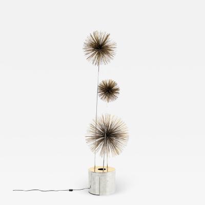 Curtis Jere Mid Century Pom Urchin Lighted Floor Sculpture
