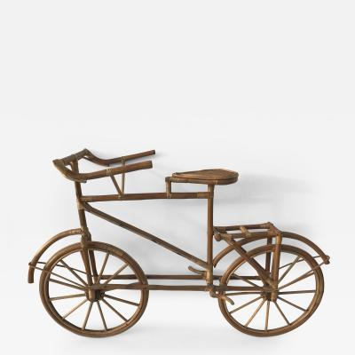 Curtis Jere Rattan Life Size Bicycle Sculpture