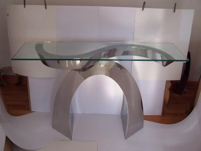 Curtis Norton Curtis Norton Console Table in stainless steel