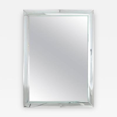 Curved Glass Framed Mirror USA Circa 1940s