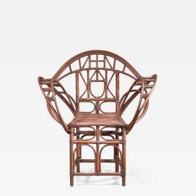 Curved hand crafted willow chair Austria