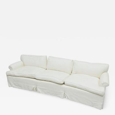 Custom Design White Three Seat Down Cushioned Sofa