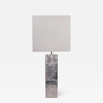 Custom Hand Made Steel and Gypsum Lamp