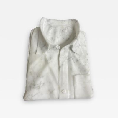 Custom Italian Carrara Marble Sculptural Shirt