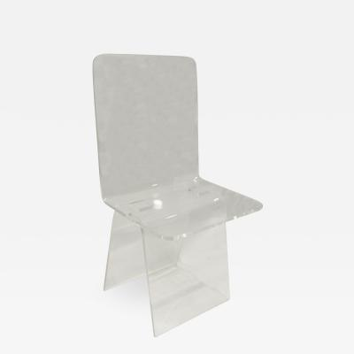 Custom Lucite Desk Chair 1970s