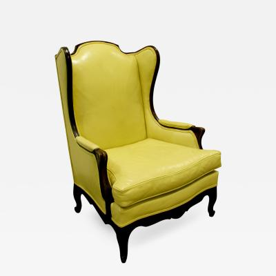 Custom Made Regency Style Wing Chair 1950s signed