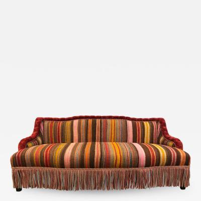 Custom Made Sofa in Vintage Flat Woven Kilim