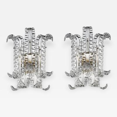 Custom Pair of Murano Glass Sconces