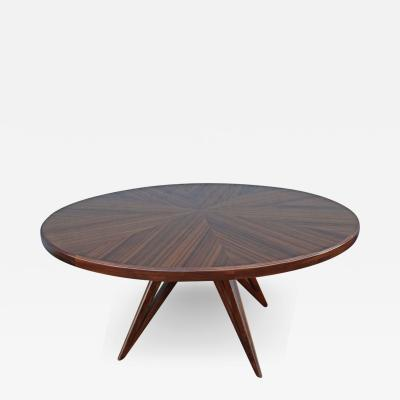 Custom Star Leg Round Wood Dining Table for Eight