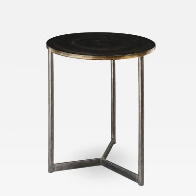Custom Steel and Brass Side Table