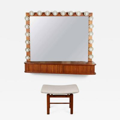 Custom Vanity with Perforated Metal Light Shades Richard M Wakamoto 1957