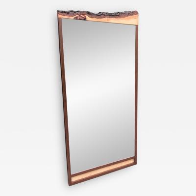 Custom Walnut Organic Mirror by Flavor Custom Design