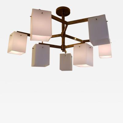 Custom lighting fixture in the Midcentury manner
