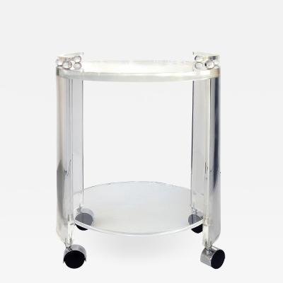 Custom made Round Lucite Bar Cart on Casters