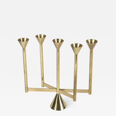 Custom made brass candle holder 70s