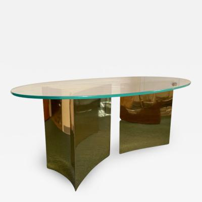 Custom made brass table made by Norwalk