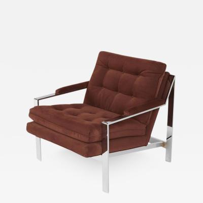 Cy Mann Cy Mann Chrome Lounge Chair for Cy Mann Designs Ltd circa 1970s