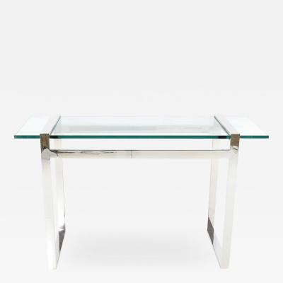 Cy Mann Glass and Chrome Console