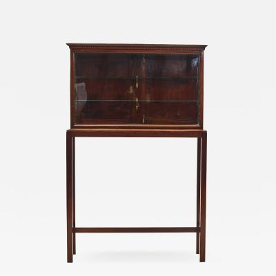 DANISH LOUIS XVI DISPLAY CABINET ON STAND