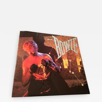DAVID BOWIE AUTOGRAPHED LETS DANCE ALBUM COVER