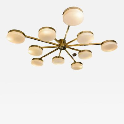 DECA DRUMS BRASS STRUCTURE FLASH CEILING LIGHT