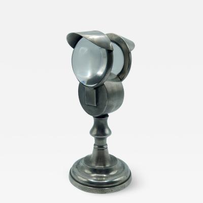 DOUBLE BULLSEYE LAMP BY ROSWELL GLEASON
