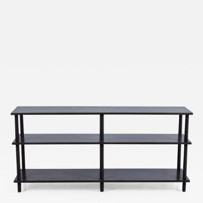 DOWEL CONSOLE IN DARK GREY FINISH