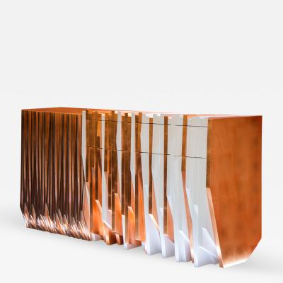 DRAMA Studio Utopia 04 Console Table in Copper Leaf by DRAMA Studio
