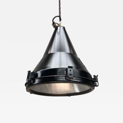 Daeyang Electric Company Ltd 1970s Black Vintage Industrial Conical Ceiling Pendant by Daeyang