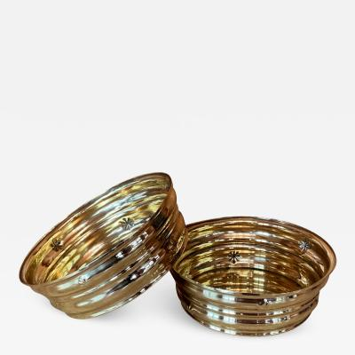 Dagobert Peche Pair of Wiener Werkstatte Brass Bowls by Dagobert Peche