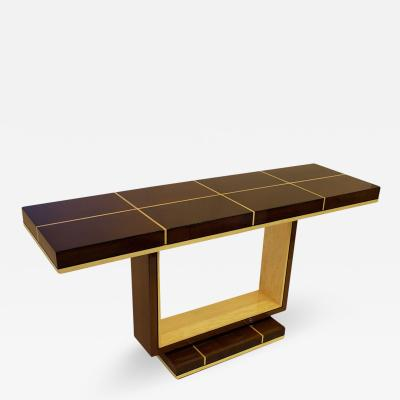 Dakota Jackson American Modern Rosewood and Sycamore Console Table Dakota Jackson