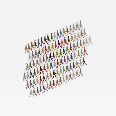 Damian Aquiles 100 Walking Men Infinite Map Infinite Memory Infinite Color